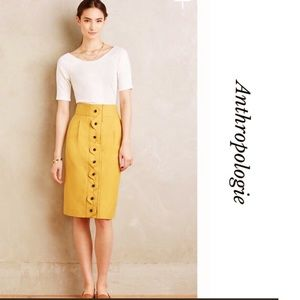 NEW ANTHROPOLOGIE MAEVE ADA BUTTON FRONT SKIRT